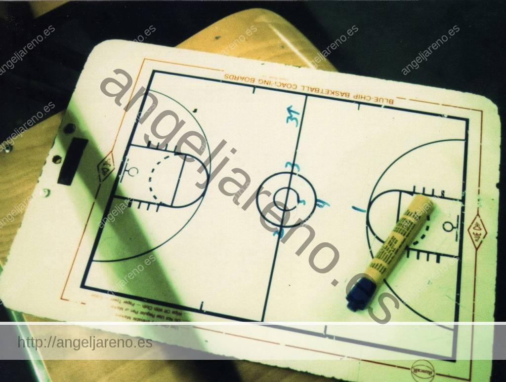 Gráfico de baloncesto que recoge una acción táctica