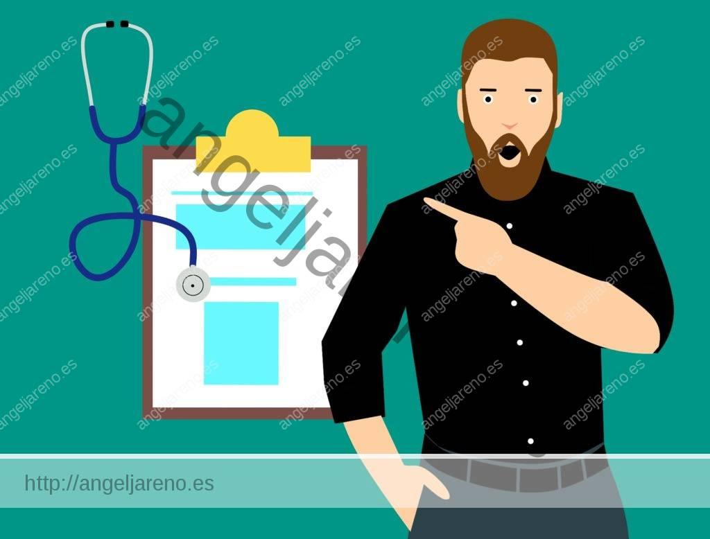 Dibujo de baloncesto que recoge a un médico y un reconocimiento médico