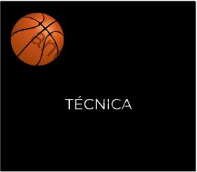 Imagen que recoge una planilla de baloncesto y el título Técnica