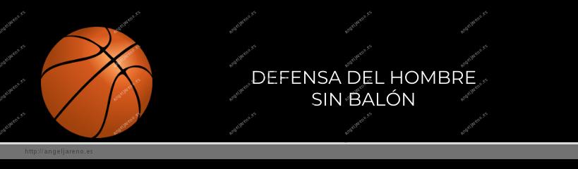 Imagen que recoge un balón de baloncesto y el título Defensa del hombre sin balón