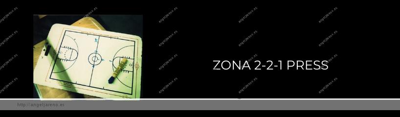 Imagen que recoge una planilla de baloncesto y el título Zona 2-2-1 press