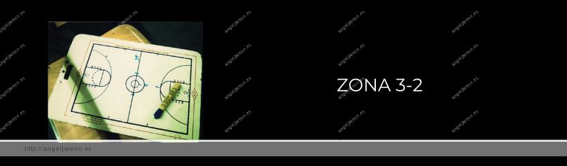 Imagen que recoge una planilla de baloncesto y el título Zona 3-2