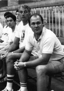 Foto de George Karl, Clifford Luyk y Ángel Jareño Real Madrid de baloncesto 1989/90