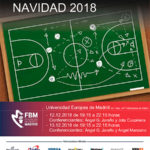 Cartel de baloncesto del IX Clinic de Navidad 2018 en Madrid al que asistió Ángel González Jareño como ponente