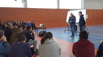 Foto de baloncesto que recoge la charla de Angel González Jareño en el curso de entrenador de nivel 2 2018